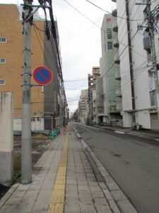 a backstreet in Sendai, near Aobadori