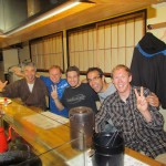 Owner, Florian, Mike, Stefan, Me, at Tomiya