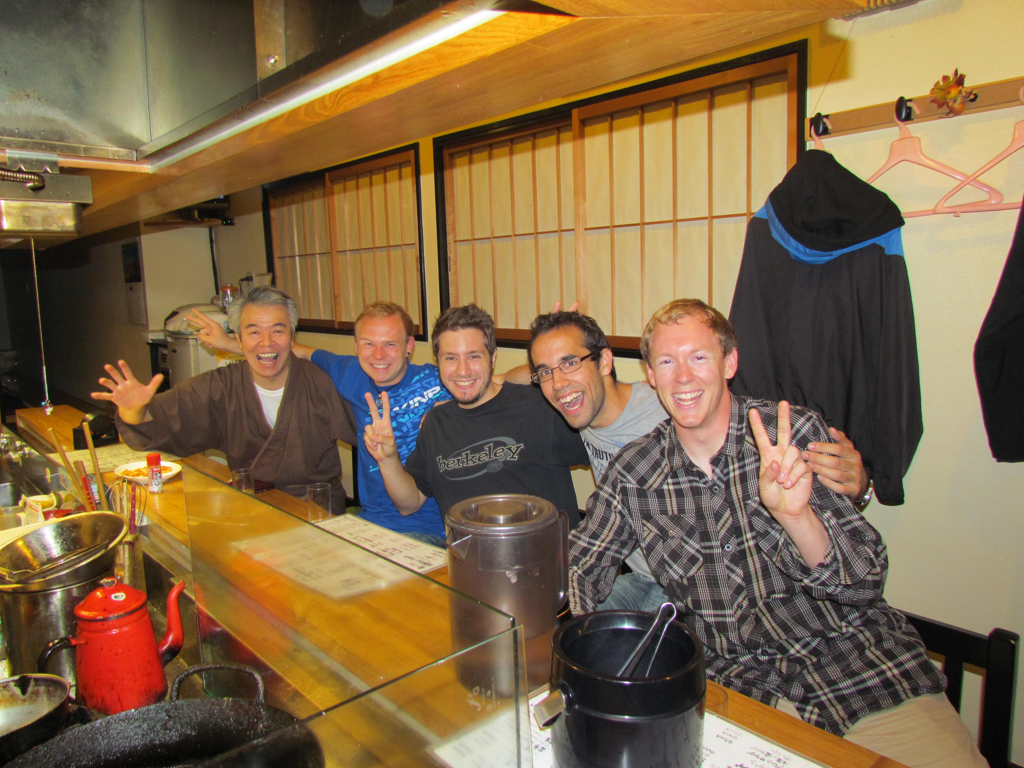 Owner, Florian, Mike, Stefan, Me, at Tomiya