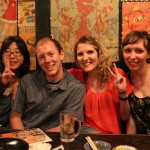 Couch-surfer Kanaeda-san, myself, and two lovely British ladies