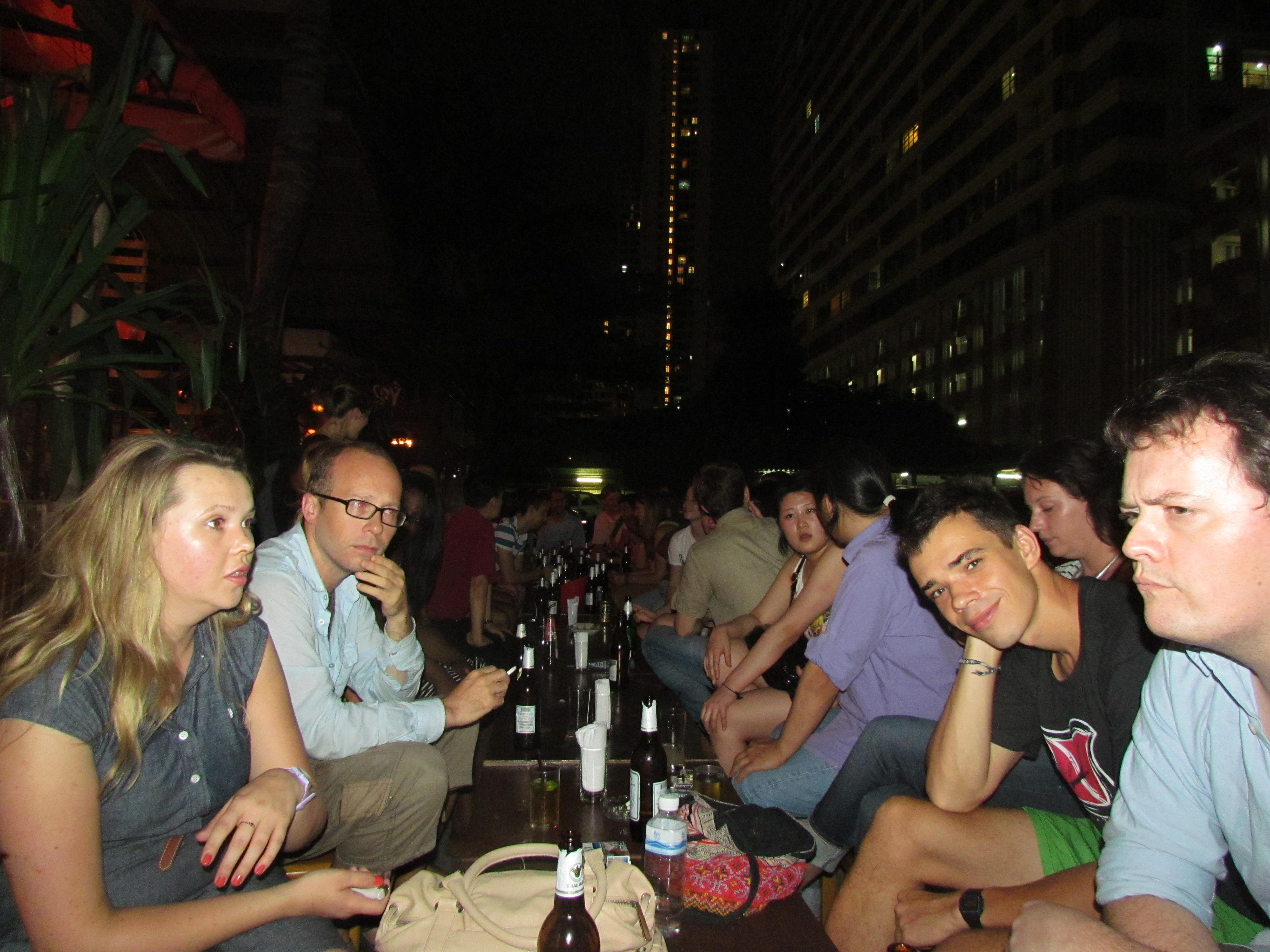 A long table at the Bangkok CSers weekly gathering