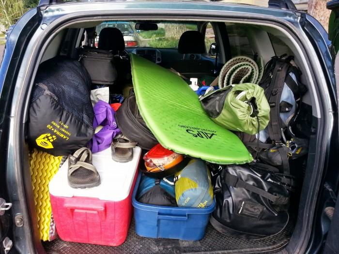 Car camping! Yeah!