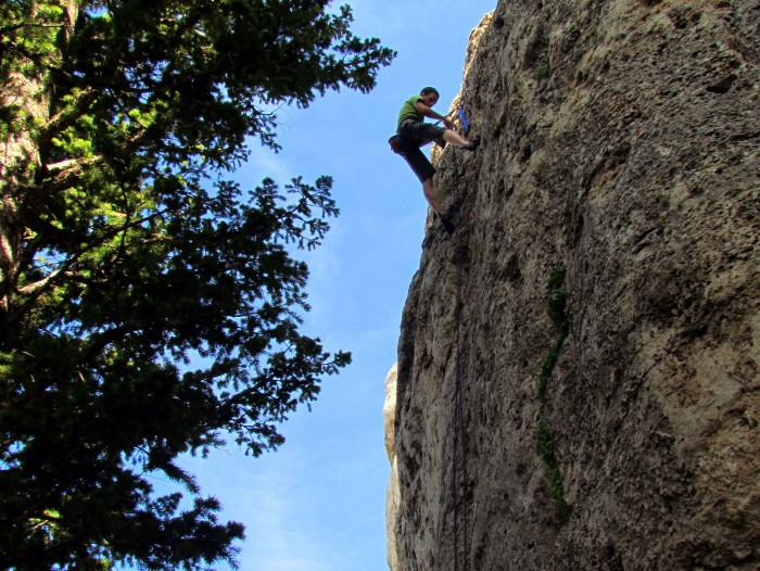 Luke cleaning a route