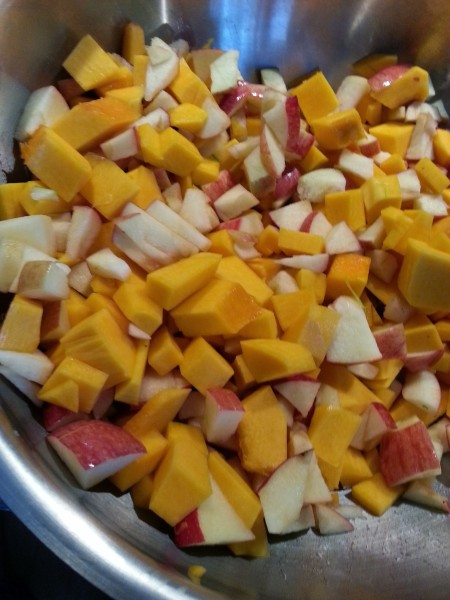 Roasted Butternut squash and apple