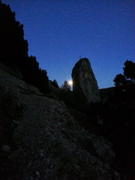 Scud Pinnacle with the Full Moon