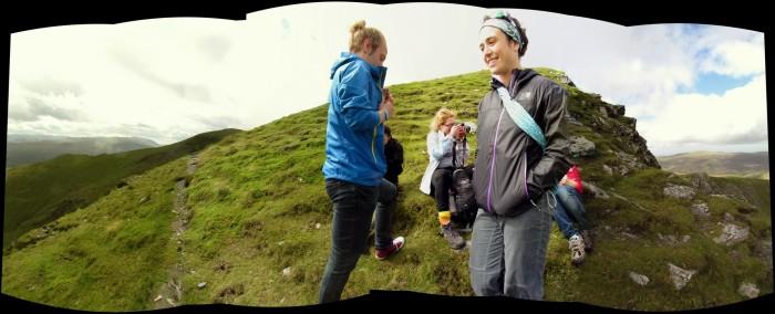 The crew at the peak