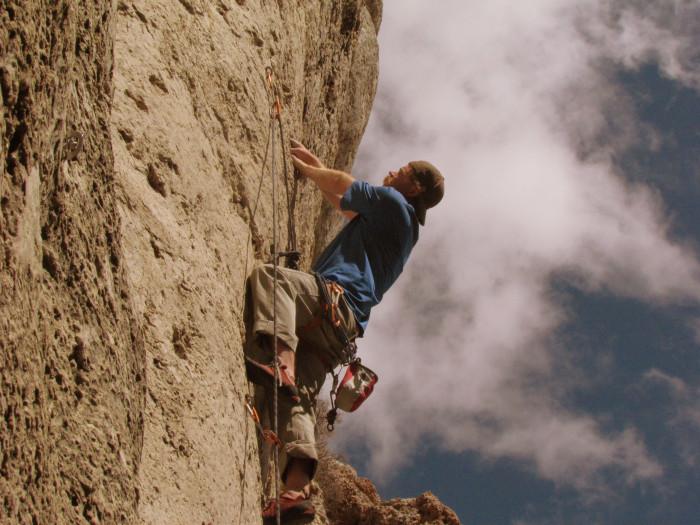 Ben crushing his way up La Vaca (5.8)